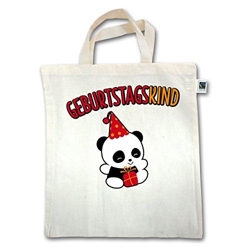 Birthday Child - Birthday Boy Panda - Unisize - Natural - Xt500 - Manico Corto In Juta