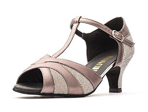 Dance Helen gun 2 Katz gold Dancewear By Metal Colours All silver Pu Social Shoes Ladies Heel Ballroom 5
