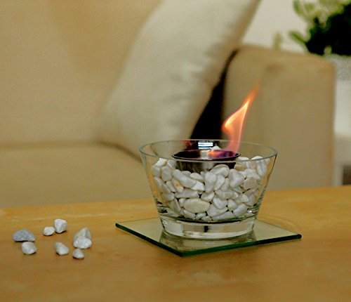 Designer's All Ready Table Top Ethanol Fireplace, Both Indoor and Outdoor Use (Glass Bowl)