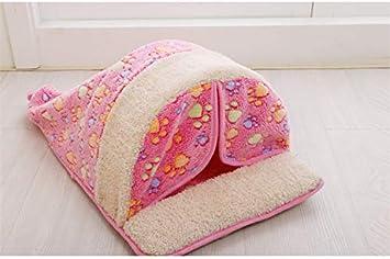 Petminru - Saco de dormir para perro de otoño de invierno, cama para mascotas pequeña