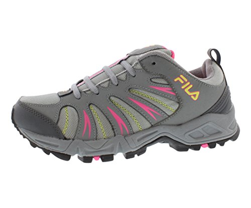Fila Women's Trailbuster 2 Trail Running Shoe, Black/Atomic Blue/Pink Glo, 6 M US For Sale