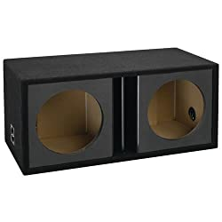 "Atrend 12dvr Dual 12"" Black Carbon Fiber Vented Subwoofer Enclosure"