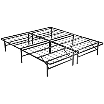 Amazon Com Mecor 14 Inch Foldable Metal Bed Frames Deluxe