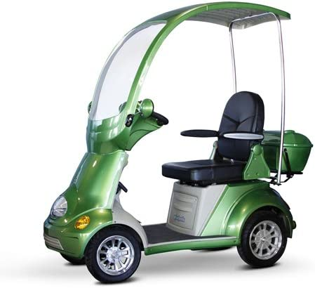 Miller Supply, Inc. EWheels EW-54 4-Wheel Full Covered Scooter with Electromagnetic Brakes, Green – BMC-EWH EW-54G