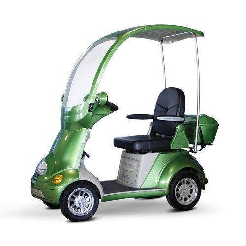 EWheels EW-54 4-Wheel Full Covered Scooter with Electromagnetic Brakes, Green – BMC-EWH EW-54G