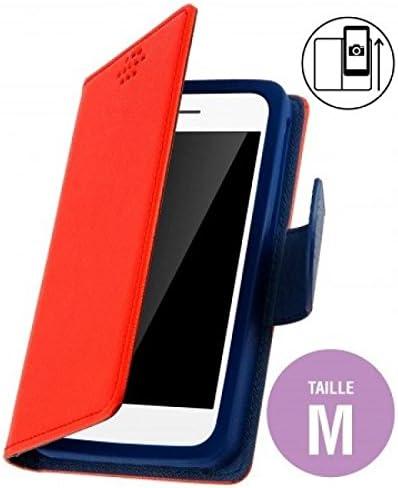 Funda Tipo Cartera para Samsung Galaxy S4 Zoom, Color Rojo: Amazon.es: Electrónica