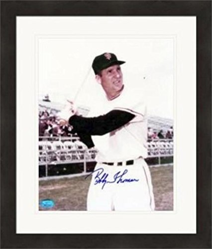 Autographed Bobby Thomson Photograph - 8x10 San Francisco Matted & Framed - Autographed MLB Photos
