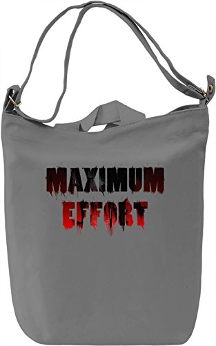 Maximum Effort Borsa Giornaliera Canvas Canvas Day Bag| 100% Premium Cotton Canvas| DTG Printing|
