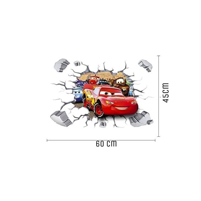 41Z2uH4P7tL ● Características: Stickers infantiles pared 3d fácil de aplicar y eliminar. No daña las superficies y no deja residuos. ● Instrucciones: Pegatinas decorativas pared infantil niño se aplica fácilmente sobre cualquier superficie limpia y seca; No es adecuado para superficies irregulares o rugosas. ● Dimensión: 1 hoja con formato de 45 cm x 60 cm