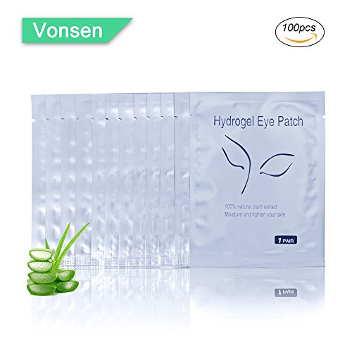 100 Pairs Set,Under Eye Pads,Comfy and Cool Under Eye Patches Gel Pad for Eyelash Extensions Eye Mask Beauty Tool