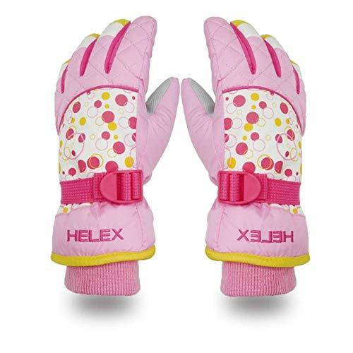 KnBoB Ski Gloves for Men Winter Gloves Warm Snowmobile Gloces Waterproof Windproof Purple One ()