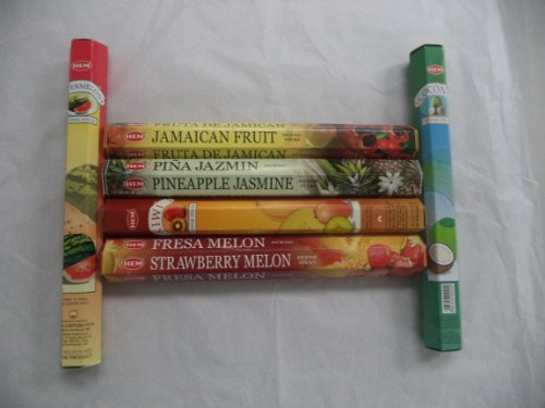 Hem Tropical Fruit Variety Incense Set 6 X 20 = 120 Sticks Variety Gift Pack ()