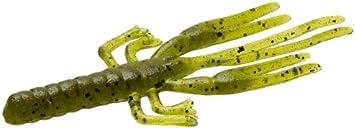 Gunki Hourra Craw 75 Pumpkin Green Softbait Krebs Creature Baits aromatisiert