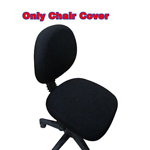 Loghot Chair Covers Spandex Universal Computer Office Desk Stretch Rotating Pure Color Chair Cover (Black) by Loghot