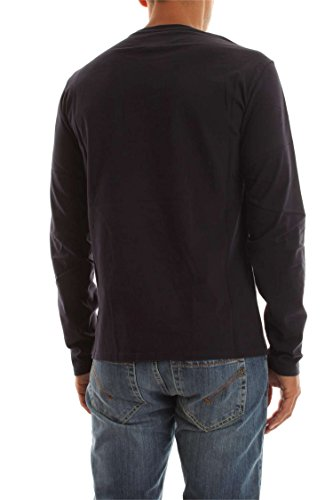 Woolrich shirt Rich Penn Logo T Lsclassic Tee Blue Blu Uomo xCwBwR4Sqn