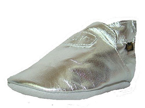 Boumy 2120 Chaussures souples pour bébé (Argenté)