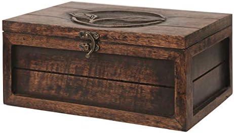 Indiaethnicity Caja de madera para guardar té Caja de regalo de madera Navidad Cyber lunes Regalos: Amazon.es: Hogar