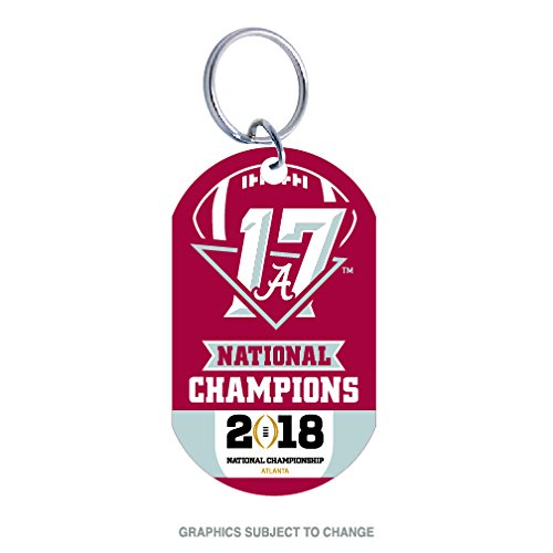 WinCraft Alabama Crimson Tide Official NCAA 2017 National Championship Champs Key Ring Keychain Aluminum by 977946 by WinCraft