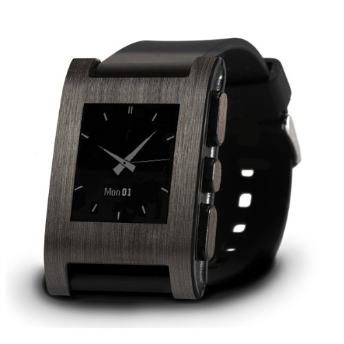 Brushed Onyx Wrap for Pebble Watch - Retail Packaging - Brushed Onyx(wrap only. Watch not included