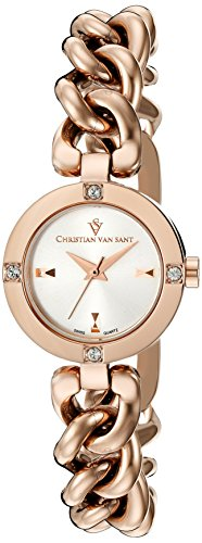 Christian Van Sant Women's CV0213 Sultry Analog Display Swiss Quartz Rose Gold-Tone Watch