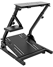 CXRCY Racing Wheel Stand Compatible with Logitech G920 G29 G27 G25 Gaming Cockpit Height Adjustable Foldable Gaming Racing Simulator Wheel Stand ,Wheel and Pedals Not Included