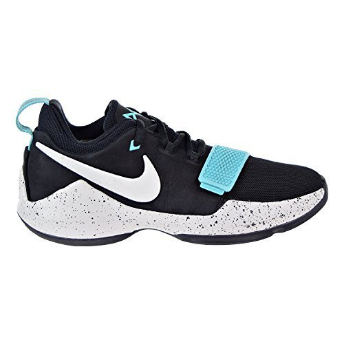 NIKE Paul George PG 1 GS Big Kids Shoes Black/Light Aqua/Light Bone 880304-002 (6.5 M US)