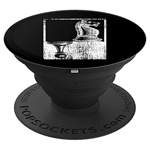 Pawn And Knight Shadow Vintage Chess - PopSockets Grip and Stand for Phones and Tablets