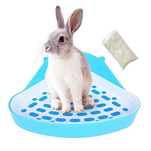 Tfwadmx Hamster Potty Trainer, Corner Litter Pan, Bunny Litter Box for Rabbit Guinea Pig Chinchilla Chipmunk Squirrel Gerbil Ferret Small Animals