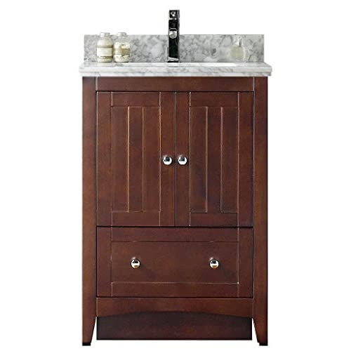 "50%OFF Jade Bath JB-17489 23.5"" W x 18"" D Plywood-Veneer Vanity Set, Walnut"