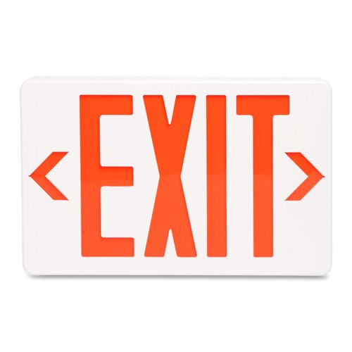 - Lighted Exit Sign, w/Battery Backup, 12-1/4