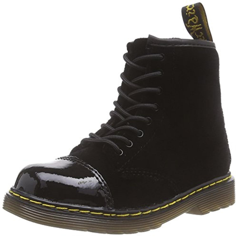 Dr. Martens BUNNY Ze You Velvet BLACK, Unisex Kids' Boat Shoes, Black (Black), Child 5.5 UK (22 EU)