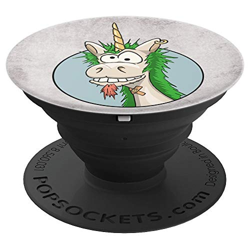 Freakin Unicorn Love | Silly Ironic Punkrock Punkicorn - PopSockets Grip and Stand for Phones and Tablets ()
