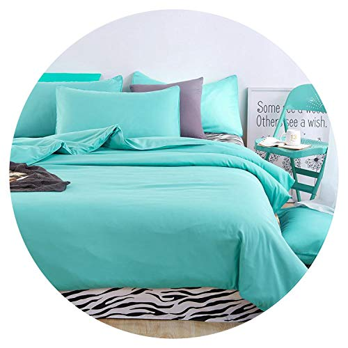 Bedding Sets Simple Striped Bed Sheet Duver Quilt Cover Pillowcase,Zebra Ink Blue,King Cover 220by240