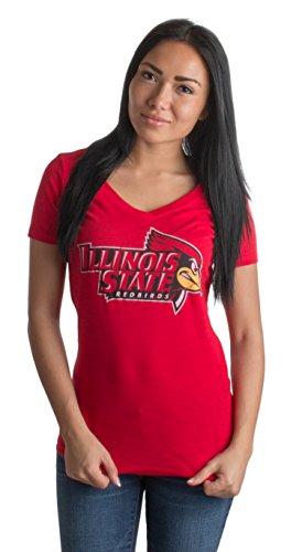 Illinois State University | ISU Redbirds Vintage Style Ladies' V-neck T-shirt