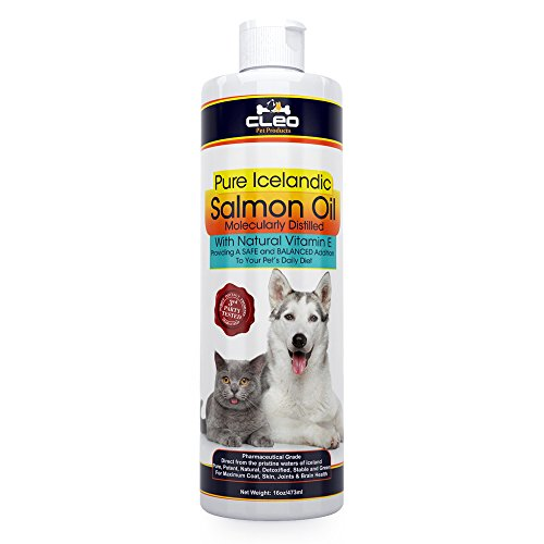 Premium Wild Atlantic Salmon Oil for Dogs and Cats; Pure Pha