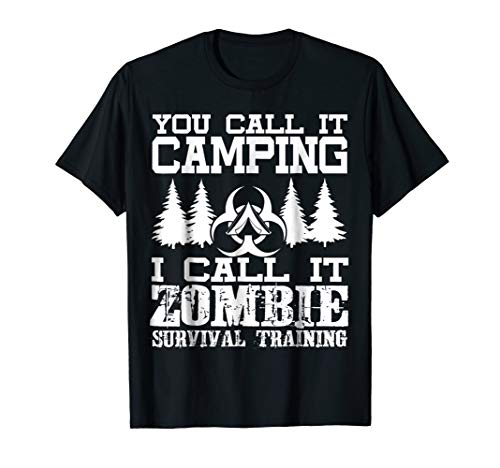 Zombie Survival Training Camping T-Shirt - Halloween -