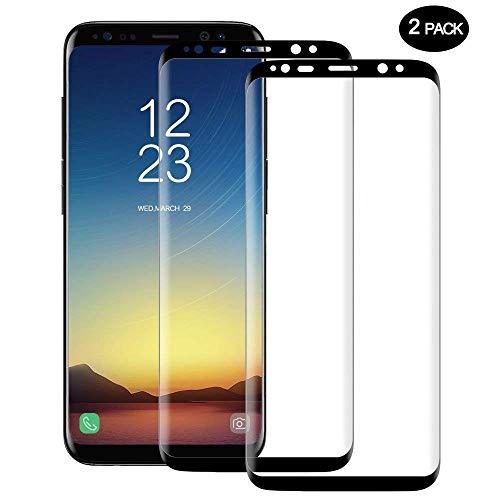 [2 Pack] Galaxy S8 Screen Protector, AVIGOR Full Coverage Screen Protector for Galaxy S8 5.8 Screen 2017(Case Friendly Updated Version) Anti- Scratch,HD Clear Anti-Bubble Film