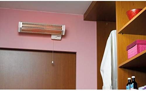 PC noirot Royat 2de infrarrojos con tubo cuarzo/Larg: 450mm-h: 120mm-epaiss: 110mm/con contador–puiss: 1200W/blanco/7908–4AA