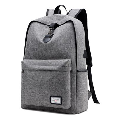 70%OFF Fankeshi Canvas Backpack with USB Charging Port for School Bookbag Travel Daypack for Fits up to 15.6 inch Laptop (D-Grey)