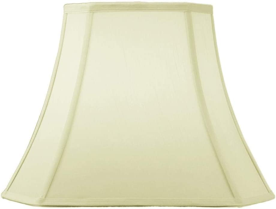HomeConcept 091612CCES Square Cut Corner Lampshade Eggshell with Brass Spider Fitter by Home Concept, 9 x 16 x 12