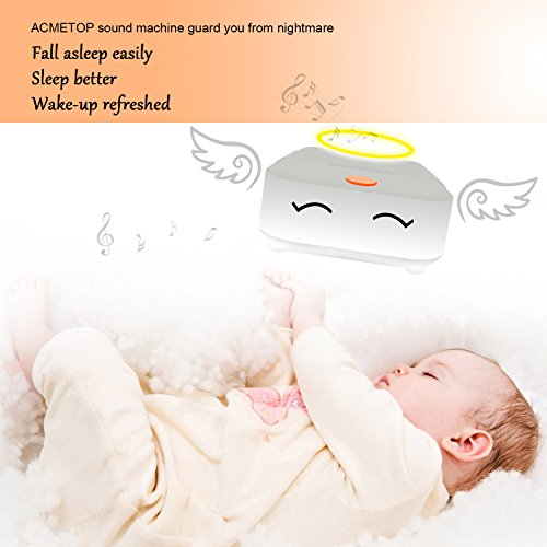 [New Upgrade] Rechargeable White Noise Machine, ACMETOP Portable Sleep Therapy Sound Machine for Baby, Kids, Home, Travel with High Fidelity Nature Sound, Soft Night Light by ACMETOP (Image #2)