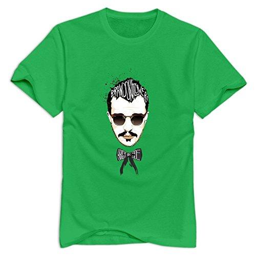 GYKU Men's Brandon Flowers T-Shirt ForestGreen US Size XXL,100% Cotton
