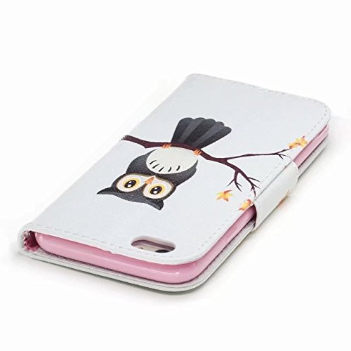Yiizy handyhülle Apple IPhone 6 / IPhone 6s hülle, Owl Tasche Leder Schutzhülle PU Ledertasche Bumper Schutz Flip Cover Case Magnet Beutel Klappe Silikon Gummi huelle Schale Stehen Kartenhalter Stil