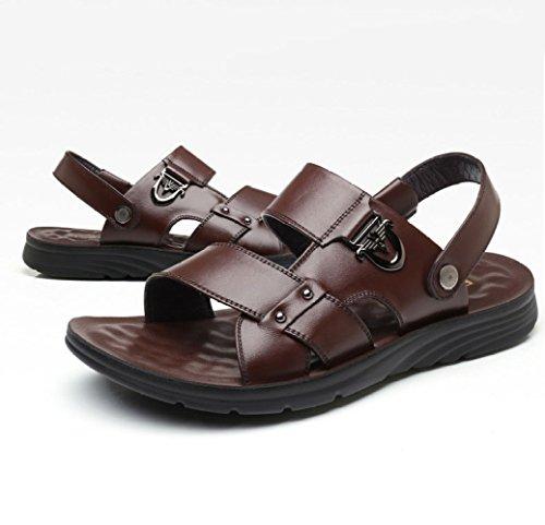 Zapatos Hombres Verano Transpirable Hombre Calzado Sandalias Playa Casual De Antideslizante Brown De OpIwq