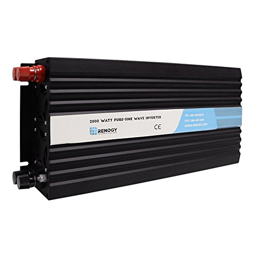 Renogy 2000W 12V Off-Grid Pure-Sine Wave Battery Inverter w/ (Deep Cycle 12v Ac Batteries)