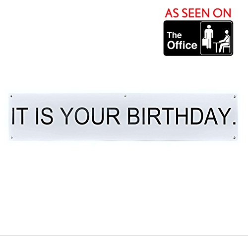 Canvas Birthday Banner - It is Your Birthday Banner The Office - The Office Show Decorations TV Show -