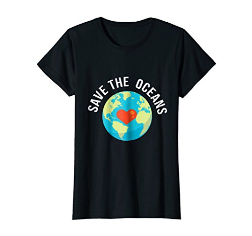 Womens Save The Oceans-World Earth Day T-Shirt Gift XL Black (Womens Earth Express)