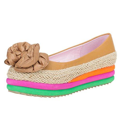 Ital-Design - zapatos de tacón Mujer Varios Colores - Camel Multi