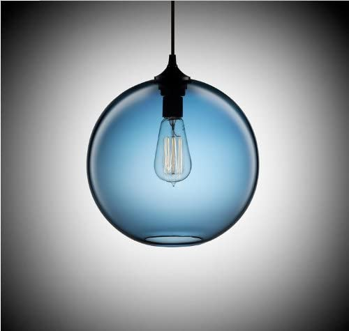 Blue Glass Ceiling Light Vintage Retro Chandelier Pendant Edison Lights Lamp Amazon Co Uk Lighting