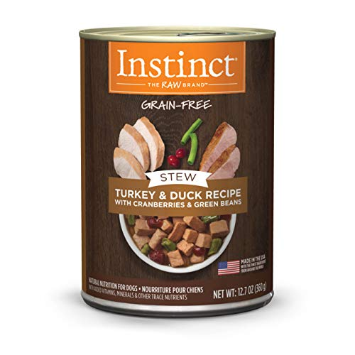 Instinct Grain Free Stews Turkey & Duck Recipe with Cranberries & Green Beans Natural Wet Canned Dog Food by Nature's Variety, 12.7 oz. Cans (Case of 6)